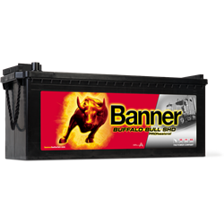 BATERIE AUTO BANNER Buffalo Bull SHD PROfessional Heavy Duty 12V 145Ah 800A Borna Tip camion (stanga sus +)