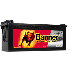 BATERIE AUTO BANNER Buffalo Bull SHD PROfessional Heavy Duty 12V 180Ah 1000A Borna Tip camion (stanga sus +)