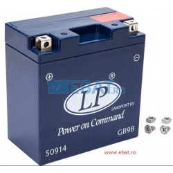 BATERIE AUTO LANDPORT GEL Power on Command - moto 12V 10Ah Borna Inversa (dreapta -)