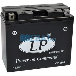 BATERIE AUTO LANDPORT AGM - Power on Command - moto START-STOP 12V 10Ah Borna Inversa (stanga +)