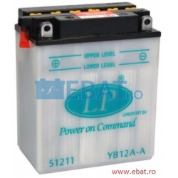 BATERIE AUTO LANDPORT DRY Power on Command - moto 12V 12Ah Borna Inversa (dreapta -)