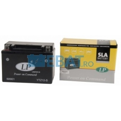 BATERIE AUTO LANDPORT SLA Power on Command - moto 12V 11Ah Borna Inversa (dreapta -)